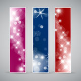 Set of  christmas / New Year banners Royalty Free Stock Image
