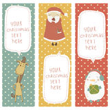A set of Christmas and New Year banners.Santa Clau Stock Photos