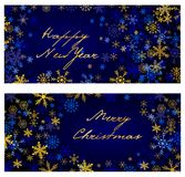 Set of  christmas . New Year banners Stock Image