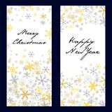 Set of  christmas . New Year banners Stock Photography