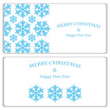 Set of Christmas and New Year banners Royalty Free Stock Image