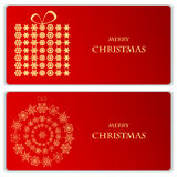 Set of Christmas and New Year banners Royalty Free Stock Images
