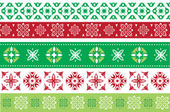 Set of Christmas and New Year borders Stock Photos