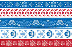 Set of Christmas and New Year borders stock illustration