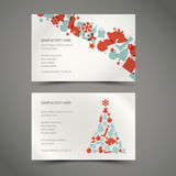 Set of  christmas / New Year cards. (blue and red Stock Images