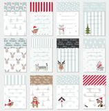 Set of Christmas and New Year cards Royalty Free Stock Photography
