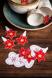 Set of Christmas or New year cupcake toppers Royalty Free Stock Photos
