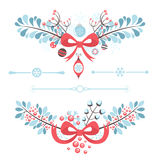 Set of Christmas and New Year decorative elements Royalty Free Stock Photo