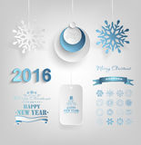 Set Of Christmas And New Year Design Elements Royalty Free Stock Images