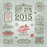 Set of christmas and new year design elements Stock Photography
