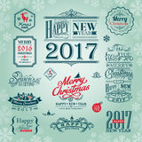Set of christmas and new year design elements. Vector Royalty Free Stock Images