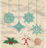 Set Christmas and New Year elements Royalty Free Stock Photography