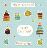 Set of Christmas and New Year elements. Vector Stock Images