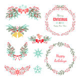 Set of Christmas and New Year graphic elements Stock Photo