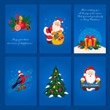 Set of Christmas and New Year greeting cards. Set of Christmas and New Year 2016 greeting cards c congratulations Royalty Free Stock Photography