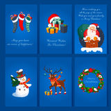 Set of Christmas and New Year greeting cards. Set of Christmas and New Year 2016 greeting cards c congratulations Stock Photos