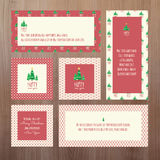 Set of Christmas and New Year greeting cards Stock Photos