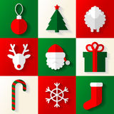 Set of Christmas and New Year icons Stock Image