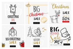 Set of Christmas and New Year mobile sale banners Stock Photography