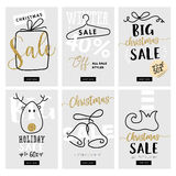 Set of Christmas and New Year mobile sale banners Stock Photo