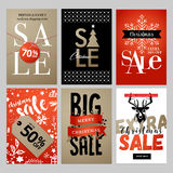 Set of Christmas and New Year mobile sale banners Royalty Free Stock Photography