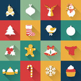 Set of Christmas and New Year objects. Royalty Free Stock Image