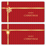 Set of Christmas and New Year's backgrounds. Christmas decorations on the knitted background Stock Images
