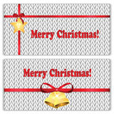 Set of Christmas and New Year's backgrounds. Christmas decorations on the knitted background Royalty Free Stock Photography
