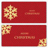 Set of Christmas and New Year's backgrounds with place for your Royalty Free Stock Image
