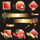 Set of Christmas & New-Year's design elements. Stock Images