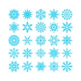 Set of Christmas and New Year snowflakes. Set of Christmas and New Year snowflakes royalty free illustration