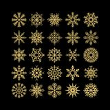 Set of Christmas and New Year snowflakes. Set of Christmas and New Year snowflakes vector illustration