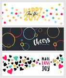 Set of Christmas and New Year social media banners Royalty Free Stock Photos