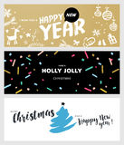 Set of Christmas and New Year social media banners Royalty Free Stock Image