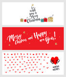 Set of Christmas and New Year social media banners Stock Photography