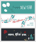 Set of Christmas and New Year social media banners Royalty Free Stock Images