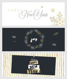 Set of Christmas and New Year social media banners Stock Images