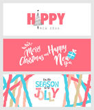 Set of Christmas and New Year social media banners Stock Image