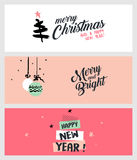 Set of Christmas and New Year social media banners Royalty Free Stock Photography