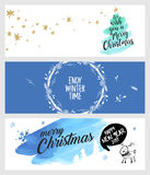 Set of Christmas and New Year social media banners Royalty Free Stock Photo