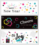 Set of Christmas and New Year social media banners. Stock Photo