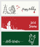 Set of Christmas and New Year social media banners. Stock Photos