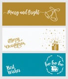Set of Christmas and New Year social media banners. Vector illustrations for website and mobile banners, internet marketing, greeting cards and printed Royalty Free Stock Image