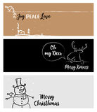 Set of Christmas and New Year social media banners. Vector illustrations for website and mobile banners, internet marketing, greeting cards and printed Royalty Free Stock Photos
