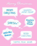 Set of Christmas and New Year stickers Stock Image