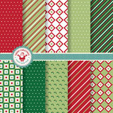 Set of Christmas and New Year vector seamless patterns Royalty Free Stock Image