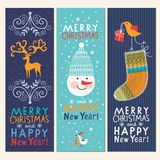 Set of Christmas and New Years banners Stock Image