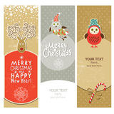Set of Christmas and New Years banners Stock Photography