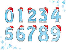 Set of Christmas numbers Royalty Free Stock Image