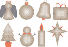 Set of Christmas Objects Stock Images